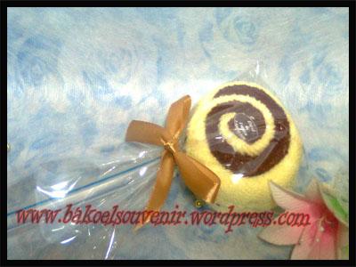 towel cake-lolipop double tanpa clay >> Rp. 5000,-/pcs