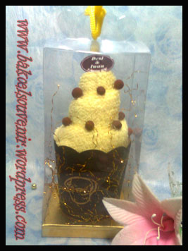 towel cake-ice cream chips mika >> Rp. 5250,-/pcs
