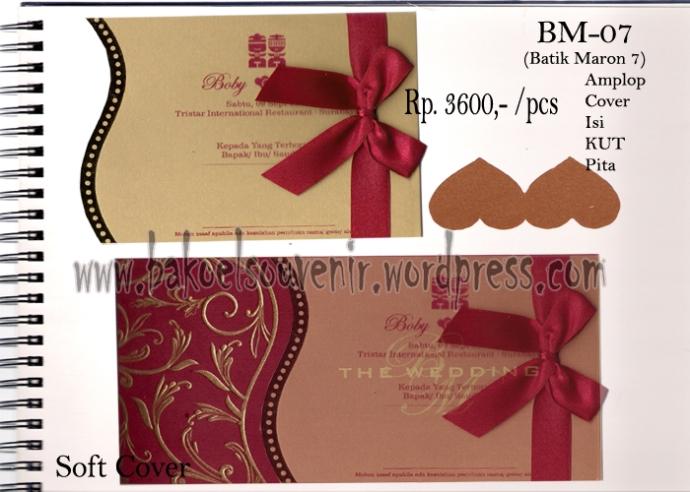 Undangan Pernikahan >> Model Batik Merah Maron 7