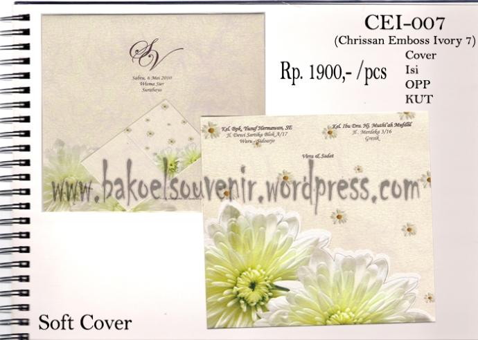 Undangan Pernikahan >> Model Chrissan Emboss Ivory 7
