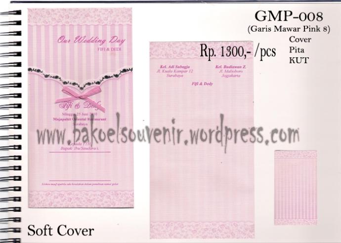 Undangan Pernikahan >> Model Garis Mawar Pink 8