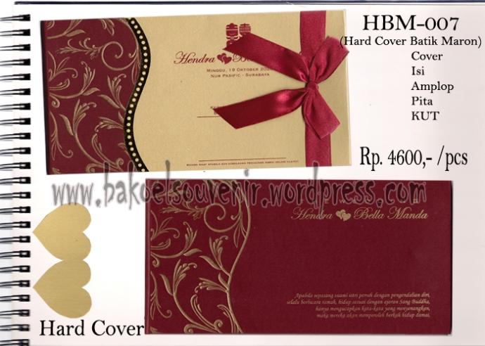 Undangan Pernikahan >> Model Hard Cover Batik Maroon