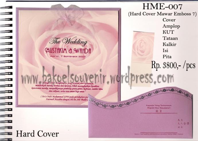 undangan pernikahan >> HME-007 >> Rp. 4000,-