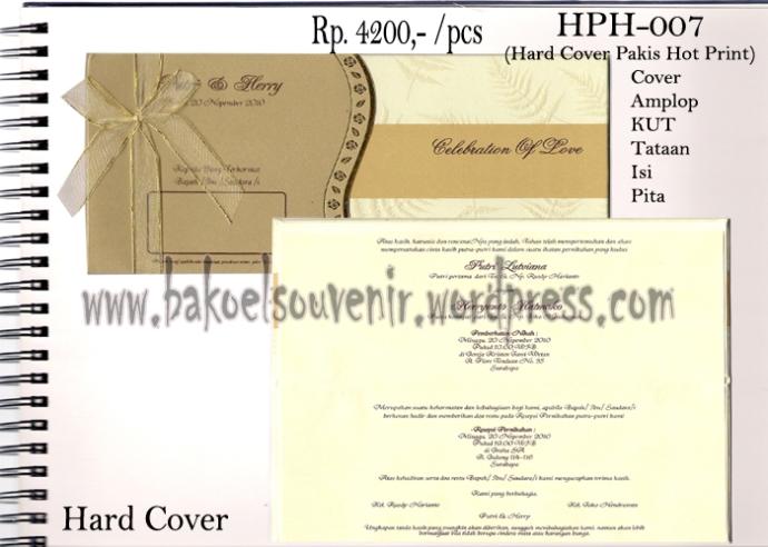 undangan pernikahan >> HPH-007 >> Rp. 4500,-