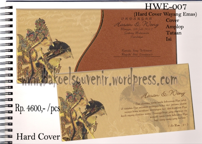 Undangan Pernikahan Model Wayang Emas Bakoel Souvenir