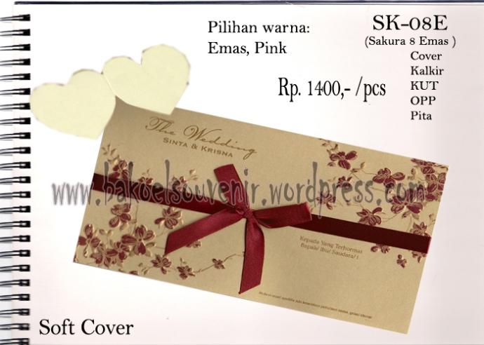 Blanko undangan pernikahan >> SK-08E >> Rp. 3500,-