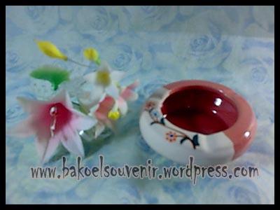 souvenir keramik-asbak bulat AB-1 >> Rp.7500,-