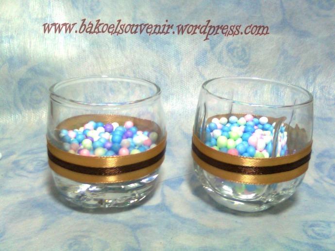 gelas kecil Hn-03 HG-02 pita satin >> Rp. 4500,-/pcs