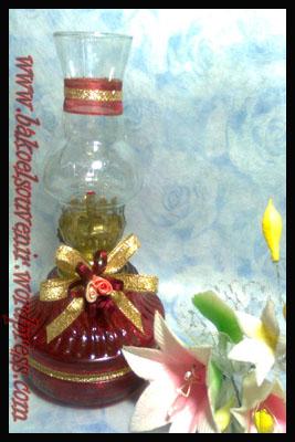 lampu tempel-jamur merah emas >> Rp. 7000,-/pcs