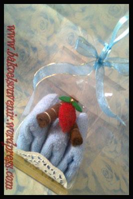 Towel cake Lapis 3 strowberi >> Rp. 6000,-/pcs