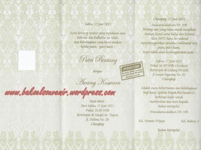 undangan pernikahan-dalam KL204 >> Rp. 3500,-/pcs