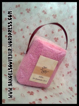 towel cake-Bag towel-KUT >> Rp. 5000,-/pcs