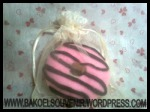 donut strawberry towel | Rp. 3750,-/pcs