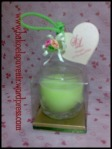souvenir pernikahan-gelas lilin | Rp. 5500,-/pcs