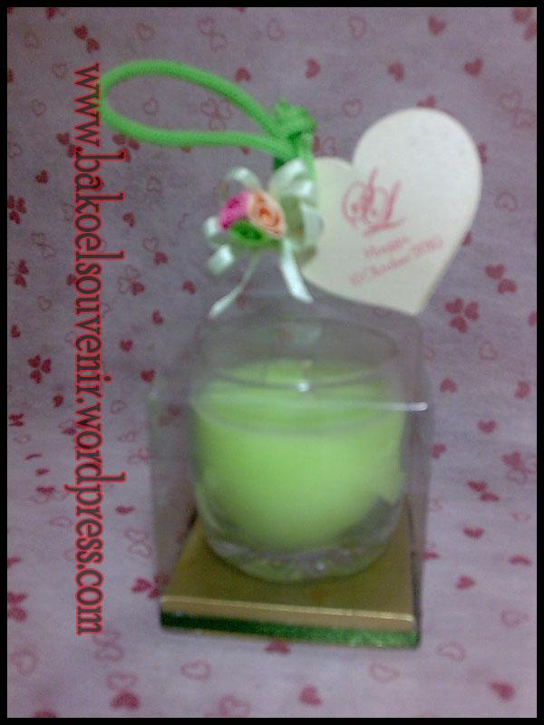 souvenir pernikahan-gelas lilin >> Rp. 6000,-/pcs
