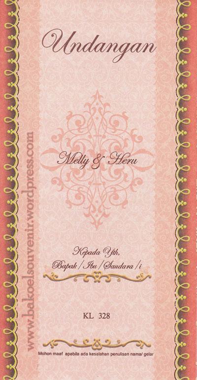 undangan pernikahan-cover kl328 >> Rp.2750,-/pcs
