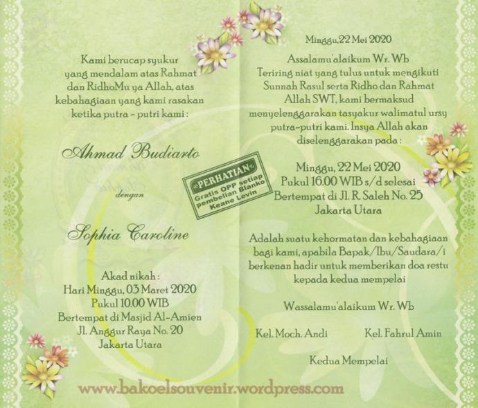 undangan pernikahan-dalam kl319 >> Rp.3000,-/pcs