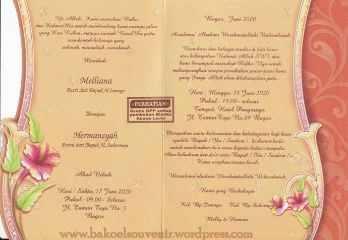 undangan pernikahan-dalam kl321 >> Rp. 2750,-/pcs