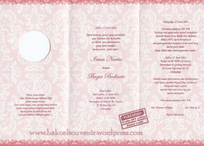 undangan pernikahan-dalam kl332 >> Rp. 3500,-/pcs