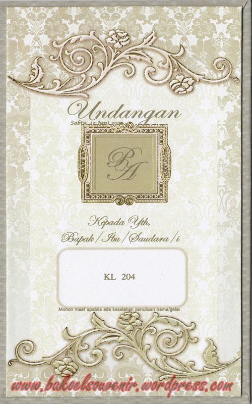 undangan pernikahan-depan KL204 >> Rp.4000,-/pcs