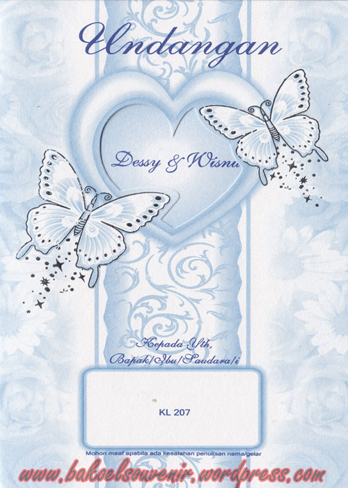 undangan pernikahan-KL207 >> Rp.3000,-/pcs