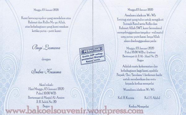 undangan pernikahan-KL305 >> Rp.3000,-/pcs