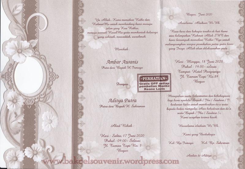 Undangan pernikahan KL309, undangan dengan desain exclusive dan ...