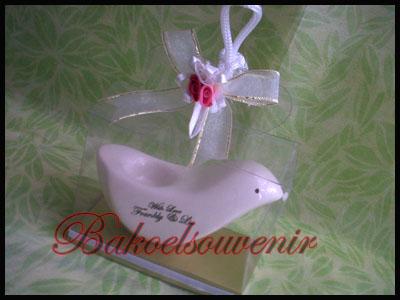 souvenir keramik tempat lili merpati | Rp.7000,-/pcs