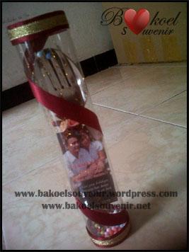 souvenir sendok garpu panjang - 7500